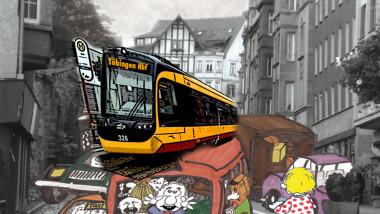 Die Stadtbahn einfach oben drauf…
