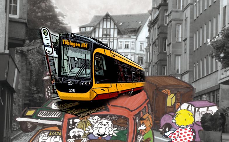 Stadtbahn-Info: bildliche Propaganda, verbale Kontroverse