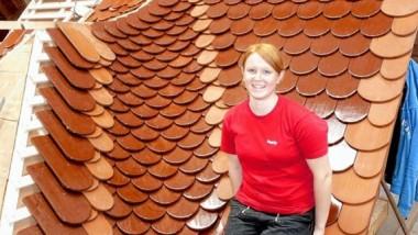 Auf dem Dach ganz oben: Bundessiegerin Julia Peetz aus Tübingen