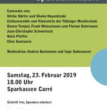 Konzert für den Saal: Samstag, 23. 2. 2019, 18 h, Sparkassen-Carré