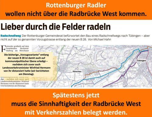 Radbrücke West & die Radfahrer*innen aus Rottenburg