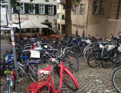 Kein Plätzle mehr für's Fahrrad?