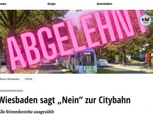 Bürgerentscheid zur Innenstadtstrecke Regionalstadtbahn