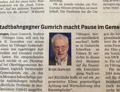 Ernst Gumrich macht Pause